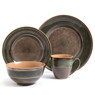 Gibson Elite Marmara Park 16-piece Brown Dinnerware Set
