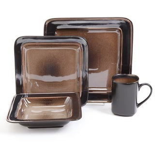 Gibson Elite Astro Galleria 16-piece Brown Dinnerware Set