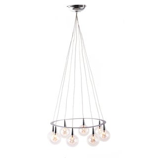Chrome Radial Ceiling Lamp