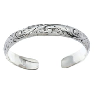 Sterling Silver Filigree Design Adjustable Toe Ring