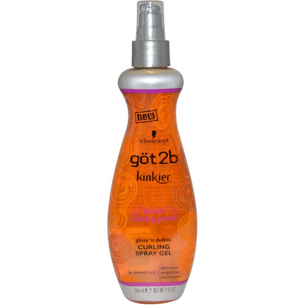 Got2b Kinkier Curling 9-ounce Spray Gel