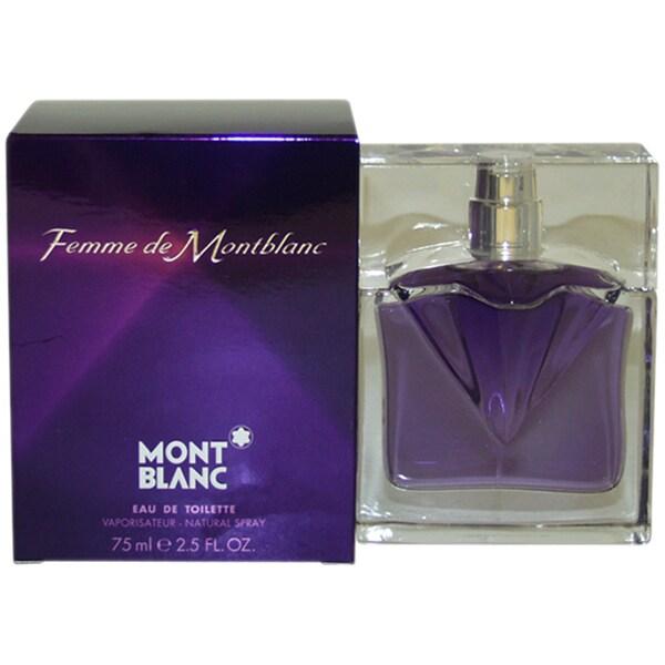 Mont Blanc Femme de Montblanc Women's 2.5-ounce Eau de Toilette Spray