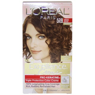 L'Oreal Excellence Creme Pro Keratine Medium Reddish Brown #5RB Warmer Hair Color