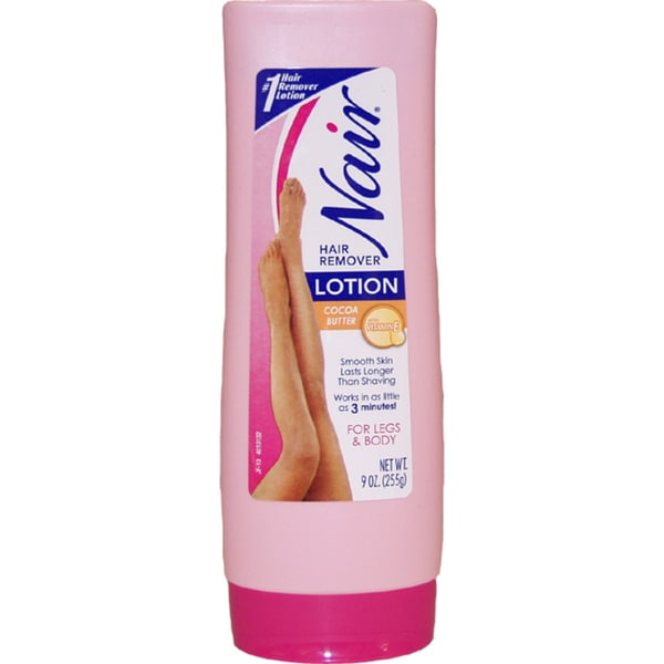 Nair Hair Remover 9-ounce Lotion with Cocoa Butter for Legs & Body