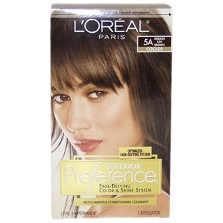 L'Oreal Superior Preference #5A Medium Ash Brown Cooler Hair Color