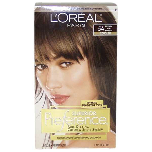 loreal superior preference 5a medium ash brown cooler