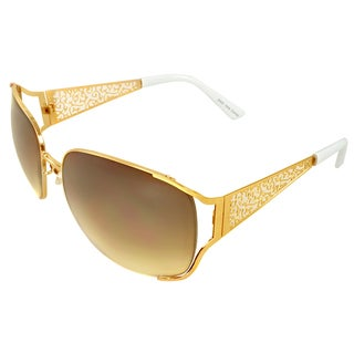 Apopo Eyewear Women's Gold Urban Shield Sunglasses