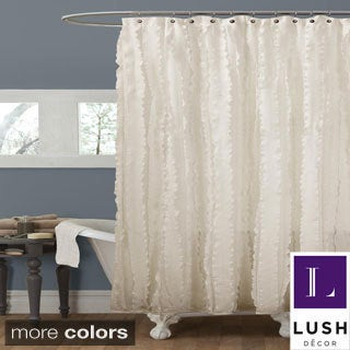 Lush Decor Modern Chic Ivory Shower Curtain