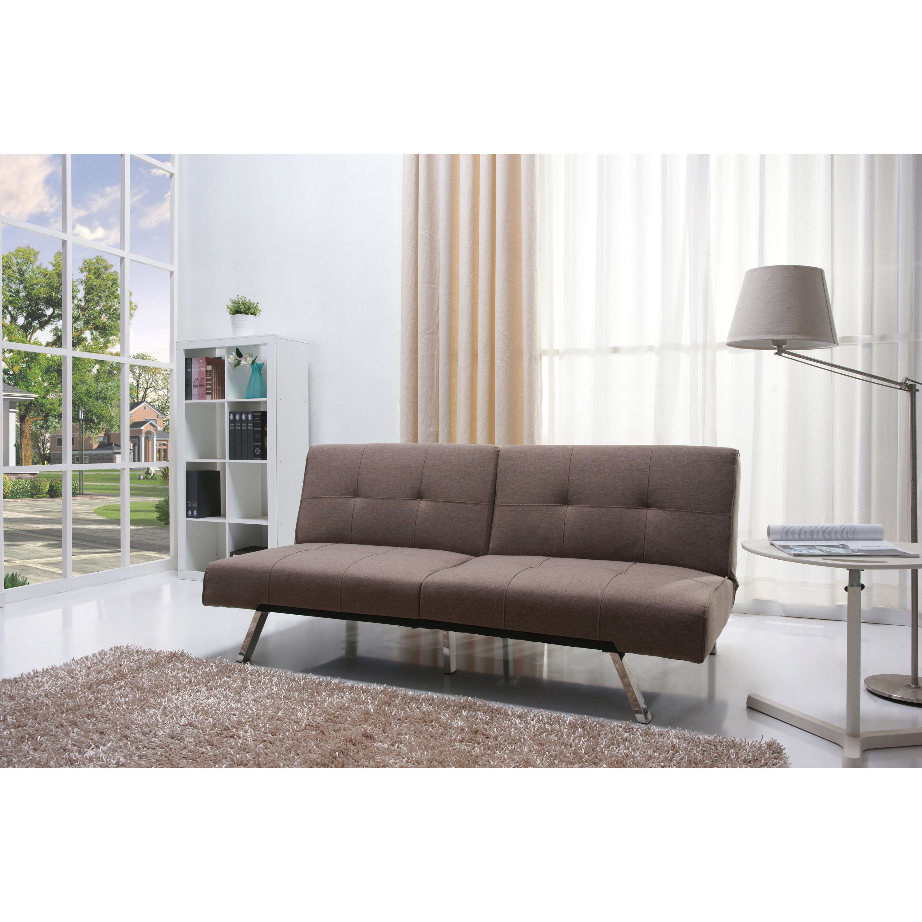 Jacksonville Mocha Fabric Futon Sofa Bed at Sears.com