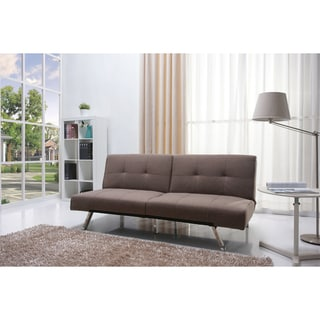 Jacksonville Mocha Fabric Futon Sofa Bed