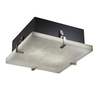 Justice Design Group 2-light Square Clips Brushed Nickel Flush-Mount