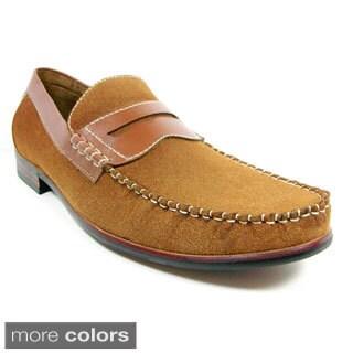 Ferro Aldo Men's Round Toe Penny Loafers