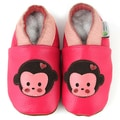 Chunky Monkey Pink Soft-Sole Leather Baby Shoes