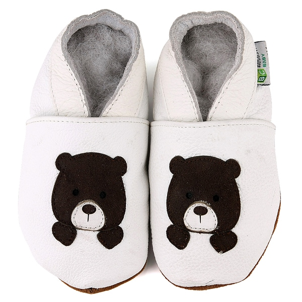 Teddy Bear Soft Sole Leather Baby Shoes