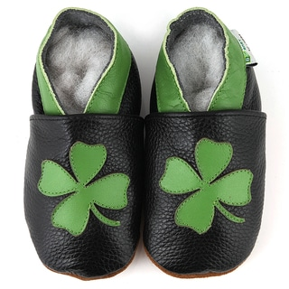 Shamrock Soft Sole Leather Baby Shoes