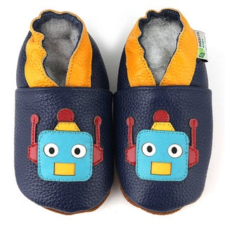 Robot Soft Sole Leather Baby Shoes