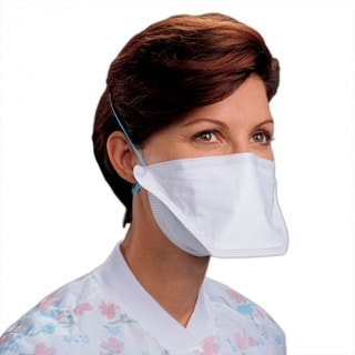 Kimberly Clark Particulate White Filter Respirator and Surgical Mask 50pcs/Box, 6 Bx/Case PFRN5, N95 Respirator, 62126