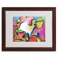 Pat Saunders-White 'Cold Hands' Cow Framed Matted Art