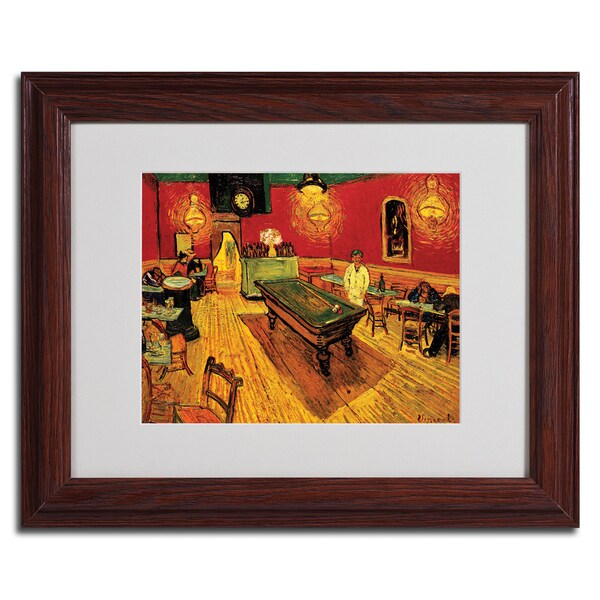 Vincent van Gough 'Night Cafe' Framed Matted Art