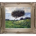 Claude Monet 'Sea Coast at Trouville' Hand Painted Framed Canvas Art
