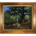 Claude Monet 'Within the Forest' Hand Painted Framed Canvas Art