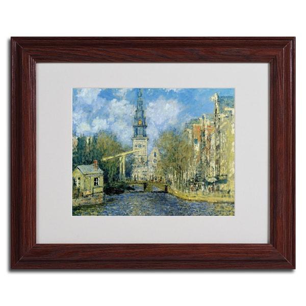 Claude Monet 'The Zuiderkerk at Amsterdam' Museum Masters Framed Matted Art