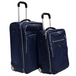 Milestone 2-piece Blue Luggage Set