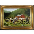 Winslow Homer 'Snap the Whip' Hand Painted Framed Canvas Art