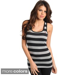 Stanzino Women's Striped Racerback Tank Top