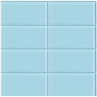 Sky 3-Inch x 6-Inch Glass Tile (Set of 10 Sheets)