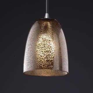 Polished Chrome 1-light Small Tapered Cylinder Mini Pendant