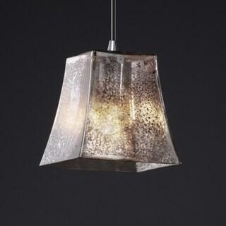 Justice Design Group Polished Chrome 1-light Square Flared Mini Pendant