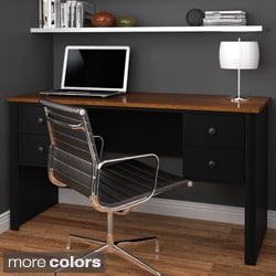 Bestar Somerville Executive Desk with 2 Pedestals
