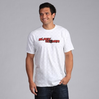 Black Clover Men's White/Red 'Fenced Rider' T-Shirt