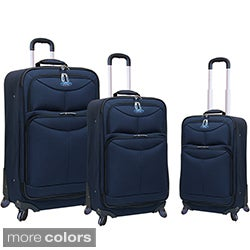 Traveler's Club Ford Focus Series 3-piece Expandable Spinner Luggage Set