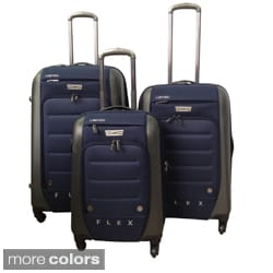 Traveler's Club Ford Flex Series 3-piece Expandable Spinner Hybrid Luggage Set