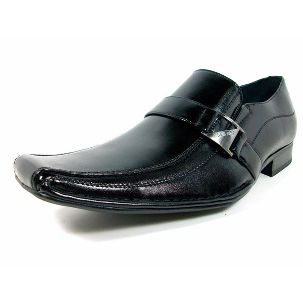 Delli Aldo Men's Buckle Front Dress Loafers