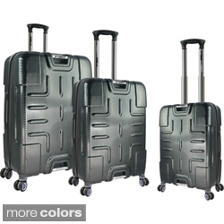 Traveler's Club F-150 Series 3-piece Textured Polycarbonate Spinner Luggage Set