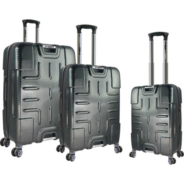 Traveler's Club Ford F-150 Series 3-piece Textured Polycarbonate Spinner Luggage Set
