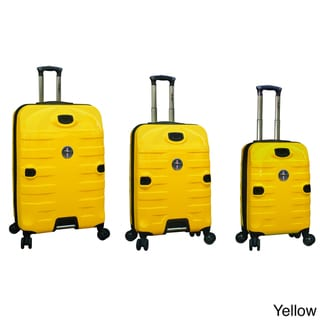 Traveler's Club Ford Mustang Series 3-piece Super Durable Polycarbonate Spinner Luggage Set