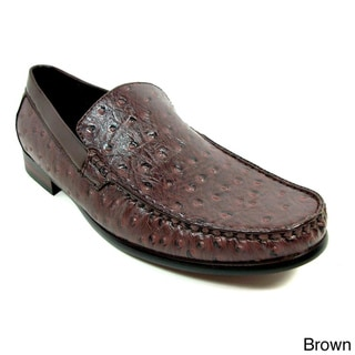 Ferro Aldo Men's Ostrich Textured Dress Loafers