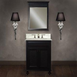Water Creation 'London' 24-inch Dark Espresso Finish Bathroom Vanity Set