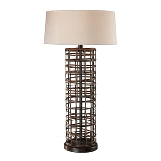 Dimond Lighting 1-light Rattan Finish Table Lamp