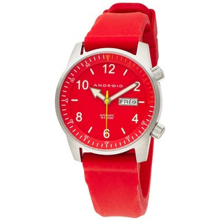 ANDROID Men's Red Octopuz Stainless Steel Automatic Watch