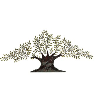 Casa Cortes Tree of Peace Large 94-Inch Metal Wall Art Decor