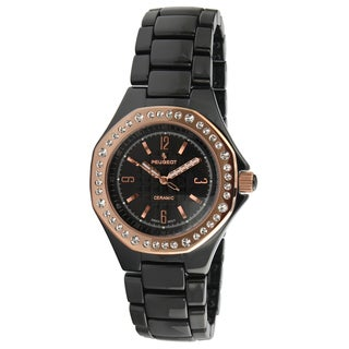 Peugeot Women's Black Ceramic Crystal-accented Watch