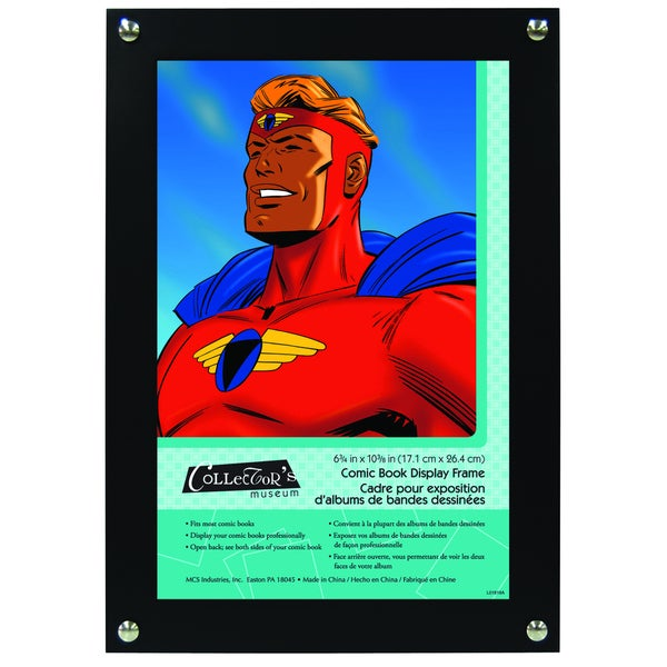MCS 6-Inch x 10-Inch Black Comic Book Display Frame