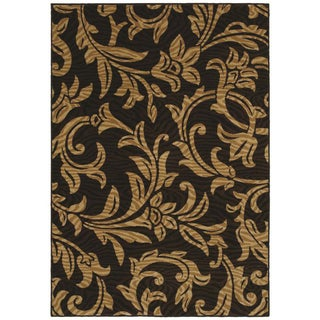 Regal Black Area Rug (5'5 x 7'8)