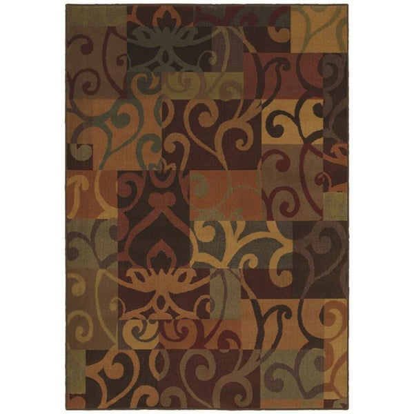 Modern Tapestry Multicolored Scroll Rug (2'6 x 7'8)