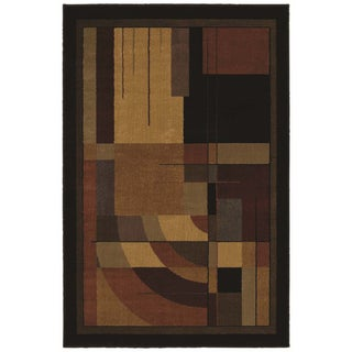 Sunset Mesa Ebony Rug (5'3 x 7'10)